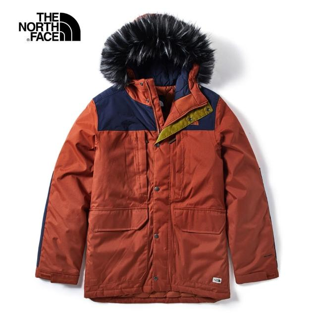 【The North Face】The North Face北面男款紅色防水保暖羽絨外套|3VUJBDN