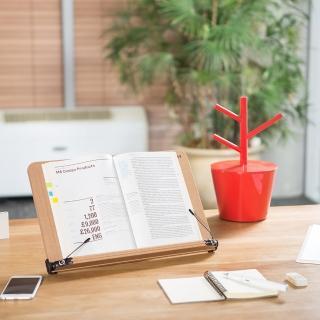 【SYSMAX】〔希思美〕13段可調式高級木質多功能 看書架 /小 S(書架/閱讀架/看書架/平板架/食譜架/樂譜架)
