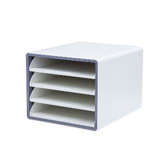 【SYSMAX】〔希思美〕四層彩邊開放式A4資料櫃 /灰(A4資料櫃/文件櫃/收納整理)