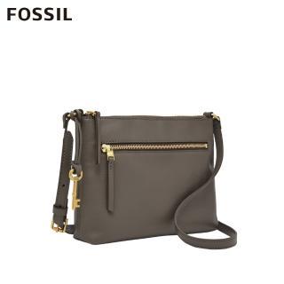 【FOSSIL】Fiona 真皮側背包-大象灰 ZB7266046