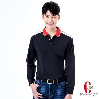 【JYI PIN 極品名店】極致保暖橫素色休閒POLO衫_黑(PW825-88)