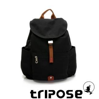 【tripose】MEMENTO系列微皺尼龍經典輕量後背包-大(潮感黑)/