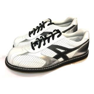 【DJ80嚴選】Ackino 炫銀白休閒風-男用高階保齡球鞋(右手專用-台灣製)