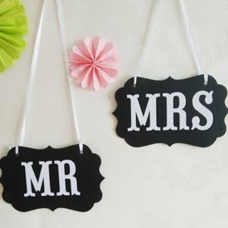 【BLS】派對拍照小道具-MR&MRS(婚禮道具/變裝派對)