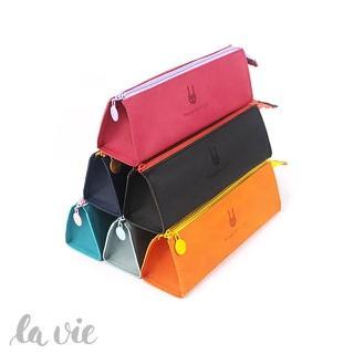 【La Vie】筆袋王☆韓版大容量簡約三角小免筆袋鉛筆盒(六色可選)