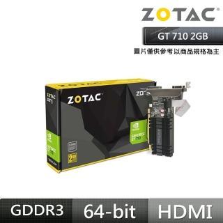 【ZOTAC 索泰】GeForce GT 710 2GB 顯示卡