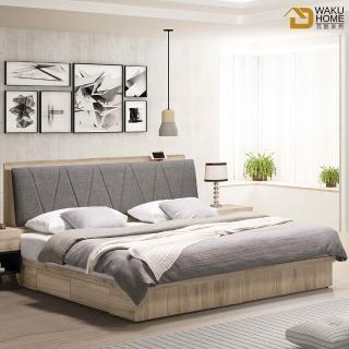 【德泰傢俱】MUSE工業生活 5尺收納型雙人床 A023-A2-01+03