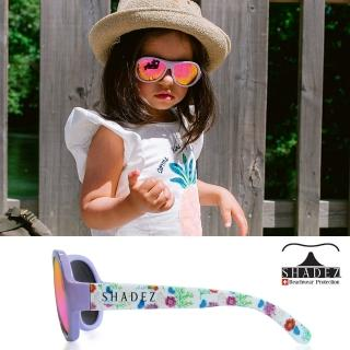 【SHADEZ】兒童太陽眼鏡 紛紫花朵 0-7歲(台灣製造 鏡架可彎)