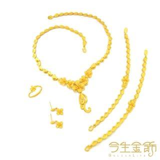 【今生金飾】Q版貔貅串珠-中 彌月手繩(純黃金串珠手繩)