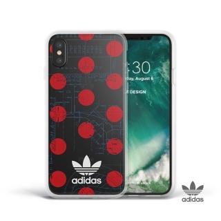 【adidas 愛迪達】iPhone 7/8 plus Originals 70年代復古經典TPU手機殼(復古紅點)