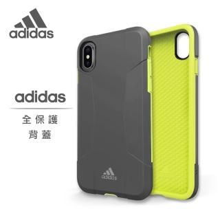 【adidas 愛迪達】iPhone X/Xs Solo Case 全保護手機殼(簡約灰)
