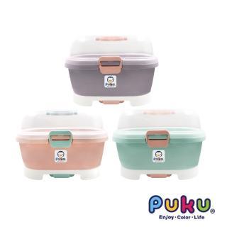 【PUKU 藍色企鵝】手提奶瓶置物箱(藍綠/粉色/紫色)