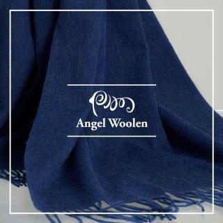 【ANGEL WOOLEN】100%Wool 經典厚織暖感羔羊毛披肩 圍巾(兩款共六色)