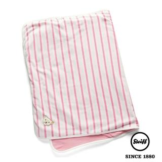 【STEIFF】泰迪熊 條紋 棉毯 被毯 寶寶毯(寢具)