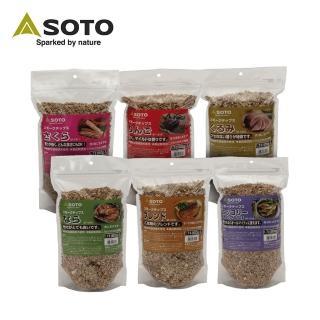 【SOTO】煙燻木片-大 500g 櫻桃/蘋果/核桃/胡桃/橡木/經典