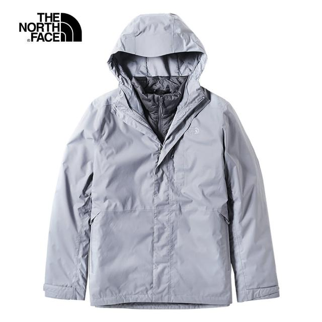 The North Face【The North Face】The North Face北面男款灰色防水保暖戶外三合一外套|3L8OFNU