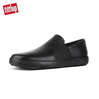 【FitFlop】COLLINS SLIP-ON SKATE SHOES輕量時尚簡約休閒鞋-男(黑色)
