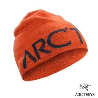【Arcteryx 始祖鳥】Logo 保暖針織羊毛毛帽(森巴橘/獵戶綠)