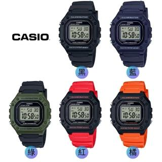 【CASIO 卡西歐】多元STANDARD電子錶系列(W-218H)