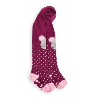 【JoJo Maman BeBe】嬰幼兒/小童內搭褲襪/保暖襪_膝蓋小灰鼠(JJE4913)