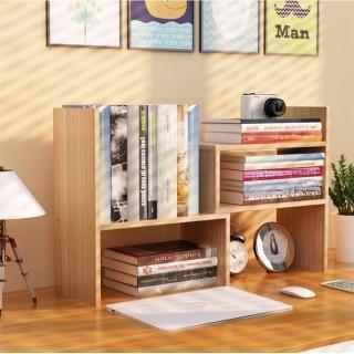 桌上型伸縮收納書架(拼裝堆疊置物架)