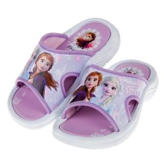 【布布童鞋】Disney冰雪奇緣第二集紫色兒童拖鞋(B9V757F)