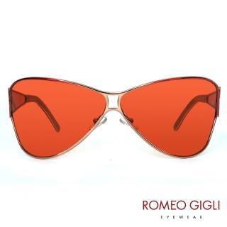 【Romeo Gigli】義大利質感透明造型框款太陽眼鏡(紅-RG517-04)