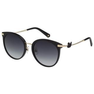 【SWAROVSKI 施華洛世奇】廣告款 水鑽 太陽眼鏡(黑色)