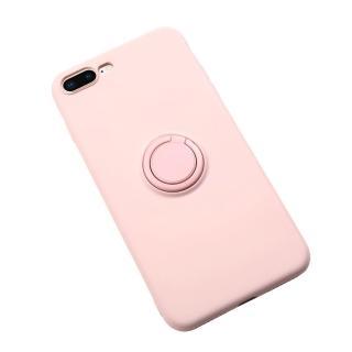 【My Colors】液態膠系列支架款 iPhone 7/8 Plus 5.5吋 新液態矽膠指環扣支架保護殼(絲滑 柔軟 矽膠保護殼)