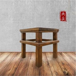 【E-home】文藝復興實木小方凳 二色可選(板凳)