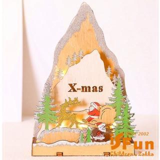 【iSFun】丹麥木屋*溫馨歐風佈置擺設夜燈/聖誕老人