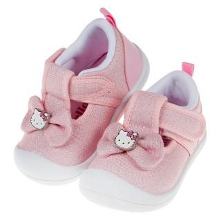 【布布童鞋】HelloKItty凱蒂貓亮線蝴蝶結粉色寶寶休閒鞋(C9U844G)