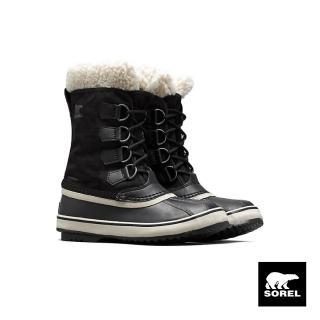 【SOREL】節慶系列女款帆布運動靴(黑色)