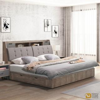 【德泰傢俱】OLAN 簡約生活5尺收納型雙人床 A023-A9-01+03