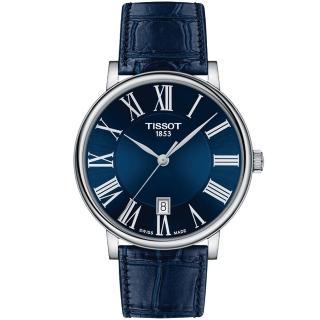 【TISSOT 天梭】CARSON 經典紳士手錶-40mm(T1224101604300)