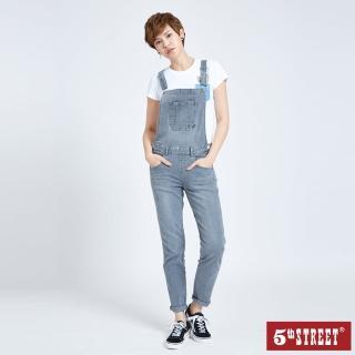 【5th STREET】女伸縮吊帶褲-灰色