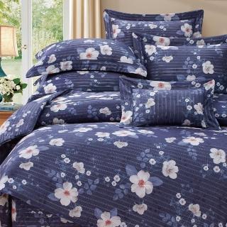 【貝兒居家寢飾生活館】80支100%天絲七件式兩用被床罩組 雙線銀纖裸睡系列 娜貝里(雙人)