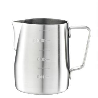 【Tiamo】專業內外刻度不鏽鋼拉花杯360cc-砂光款(HC7083)