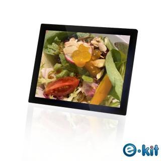 【e-Kit 逸奇】15吋玻璃耐磨鏡面經典數位相框電子相冊(DF-V806_BK)