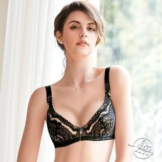 【Lady】戀戀巴洛克系列 E-G罩 《無襯》全罩 內衣(華麗黑)