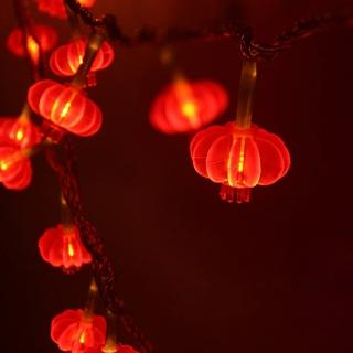 【聖誕布置/半島良品】24H發貨/1.5米紅燈籠燈/燈串/新年燈/裝飾燈(掛布 過年 新年 聖誕節 聖誕燈)