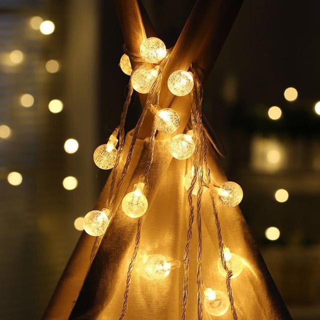 【聖誕布置/半島良品】24H發貨/1.5米水晶燈/燈串/聖誕燈/裝飾燈(掛布
