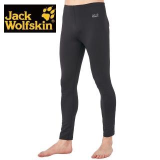 【Jack wolfskin 飛狼】男 彈性內搭保暖褲 竹炭紗 抑菌抗臭(黑色)