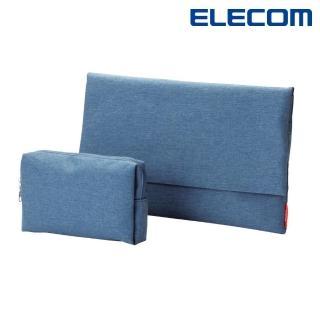 【ELECOM】簡約包內收納袋2入-牛仔藍(BM-F02XBU)