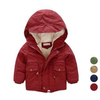【橘魔法】男童刷毛加厚連帽(風衣 大衣 外套 兒童 童裝 夾克 橘魔法Baby magic 現貨 過年)