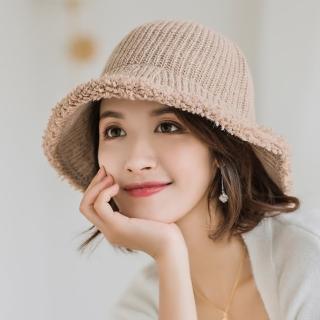【Acorn 橡果】韓系純色保暖漁夫帽圓頂帽遮陽帽1712(卡其)