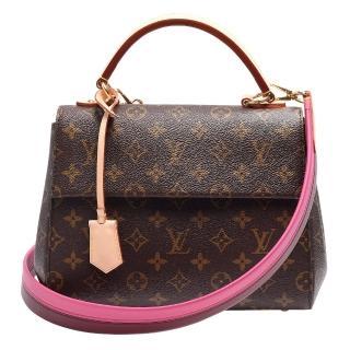 【Louis Vuitton 路易威登】M42738 經典Monogram CLUNY BB雙色背帶手提/肩背包
