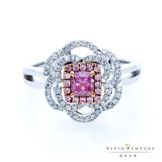 【Vividventure 亞帝芬奇】GIA 30分 粉紅彩鑽 鑽石 戒指 粉紅花雨(18K金台)