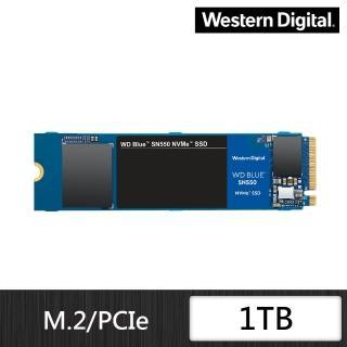 【WD 威騰】藍標 SN550 1TB M.2 2280 PCIe Gen  固態硬碟(WDS100T2B0C)