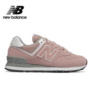 【NEW BALANCE】NB 574 經典復古休閒鞋_女鞋_灰粉紅_WL574UNC-B楦 運動 休閒 潮流 時尚